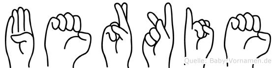 Berkie in Fingersprache f�r Geh�rlose
