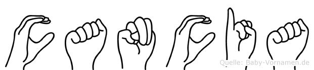 Cancia in Fingersprache f�r Geh�rlose