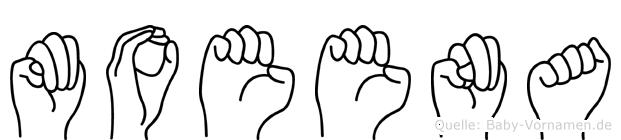 Moeena in Fingersprache für Gehörlose