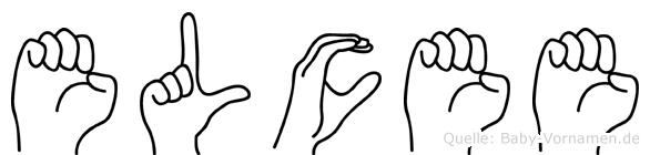 Elcee im Fingeralphabet der Deutschen Gebärdensprache