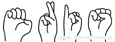 Eris im Fingeralphabet der Deutschen Gebärdensprache