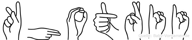 Khotrii im Fingeralphabet der Deutschen Gebärdensprache