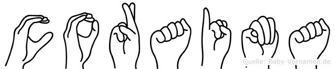 Coraima in Fingersprache für Gehörlose