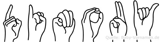 Dimouy im Fingeralphabet der Deutschen Gebärdensprache