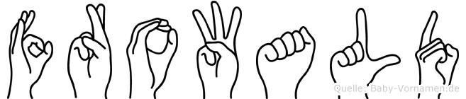 Frowald im Fingeralphabet der Deutschen Gebärdensprache