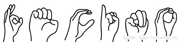 Fecino in Fingersprache für Gehörlose