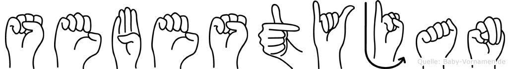Sebestyjan in Fingersprache für Gehörlose