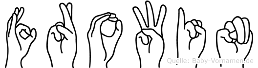 Frowin in Fingersprache für Gehörlose