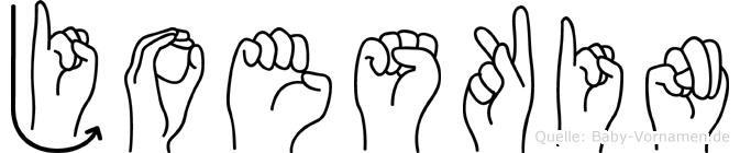Joeskin in Fingersprache für Gehörlose
