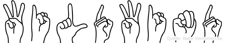Wildwind in Fingersprache für Gehörlose
