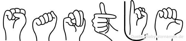 Santje in Fingersprache für Gehörlose