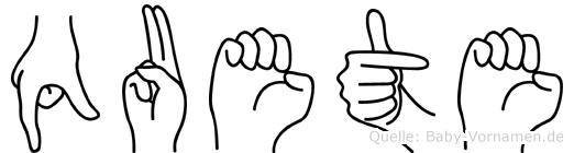 Quete in Fingersprache für Gehörlose