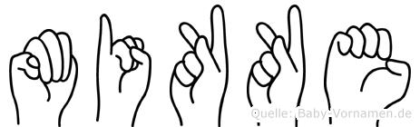 Mikke im Fingeralphabet der Deutschen Gebärdensprache
