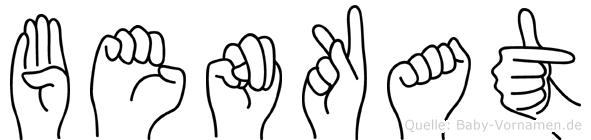 Benkat im Fingeralphabet der Deutschen Gebärdensprache