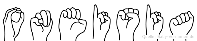 Oneisia in Fingersprache für Gehörlose