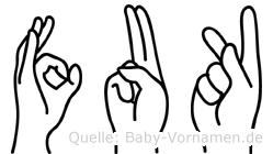 Fuk in Fingersprache für Gehörlose