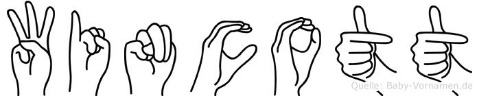 Wincott im Fingeralphabet der Deutschen Gebärdensprache