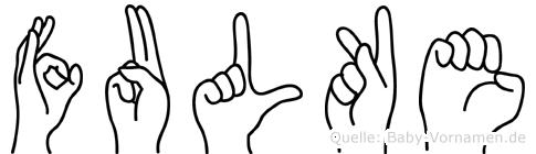 Fulke im Fingeralphabet der Deutschen Gebärdensprache