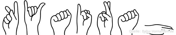 Kyairah in Fingersprache für Gehörlose