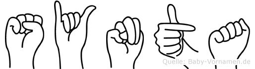 Synta im Fingeralphabet der Deutschen Gebärdensprache
