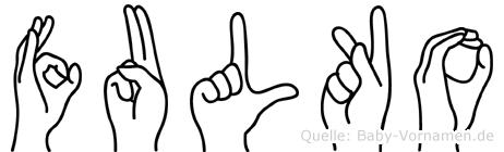 Fulko in Fingersprache für Gehörlose
