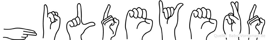 Hildeyerd im Fingeralphabet der Deutschen Gebärdensprache