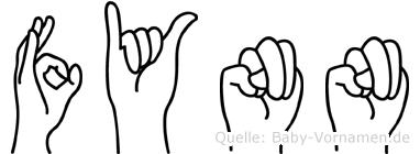 Fynn im Fingeralphabet der Deutschen Gebärdensprache