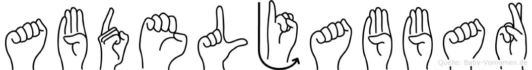 Abdeljabbar in Fingersprache für Gehörlose