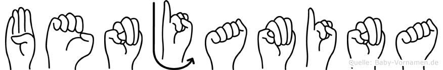 Benjamina in Fingersprache für Gehörlose