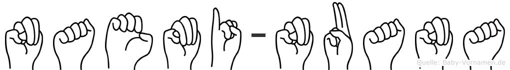Naemi-Nuana im Fingeralphabet der Deutschen Gebärdensprache
