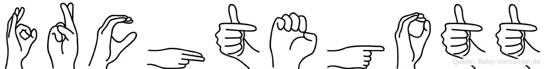 Fürchtegott in Fingersprache für Gehörlose