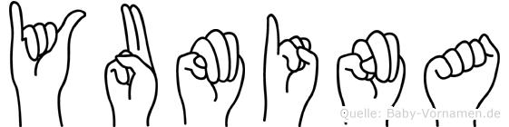 Yumina im Fingeralphabet der Deutschen Gebärdensprache