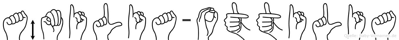 Ämilia-Ottilia im Fingeralphabet der Deutschen Gebärdensprache