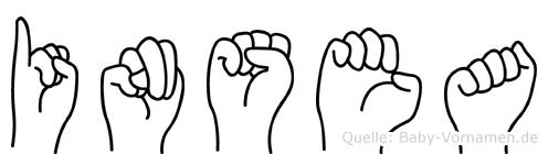 Insea im Fingeralphabet der Deutschen Gebärdensprache
