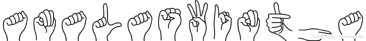 Amalaswintha im Fingeralphabet der Deutschen Gebärdensprache