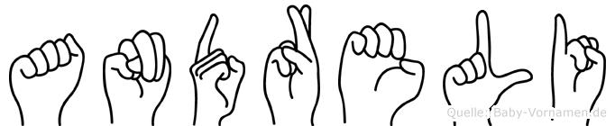 Andreli im Fingeralphabet der Deutschen Gebärdensprache