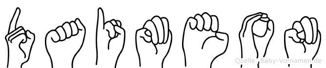 Daimeon in Fingersprache für Gehörlose