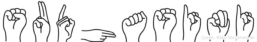 Sudhasini in Fingersprache für Gehörlose