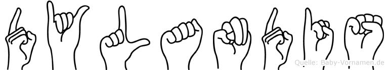 Dylandis im Fingeralphabet der Deutschen Gebärdensprache