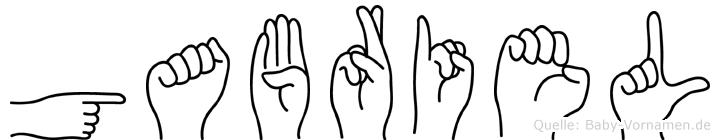 Gabriel in Fingersprache für Gehörlose