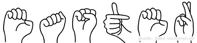 Easter in Fingersprache für Gehörlose