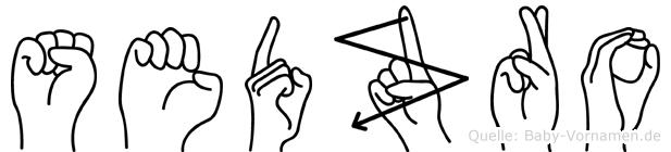 Sedzro im Fingeralphabet der Deutschen Gebärdensprache