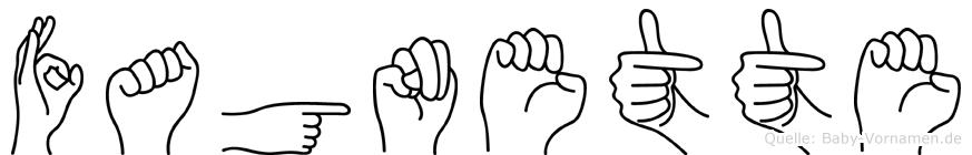 Fagnette in Fingersprache für Gehörlose