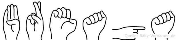 Breaga in Fingersprache für Gehörlose