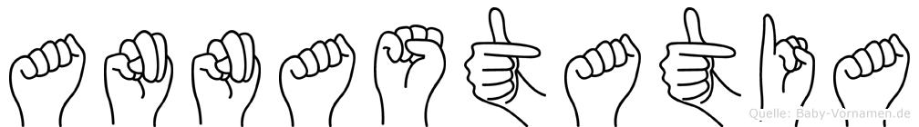 Annastatia im Fingeralphabet der Deutschen Gebärdensprache