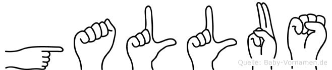 Gallus in Fingersprache für Gehörlose