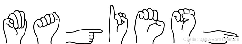 Magiesh in Fingersprache für Gehörlose