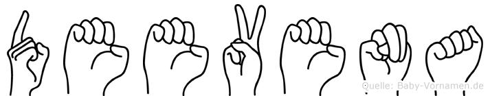 Deevena in Fingersprache für Gehörlose