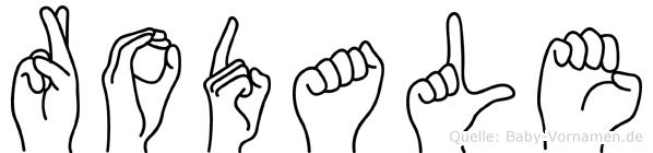 Rodale in Fingersprache für Gehörlose