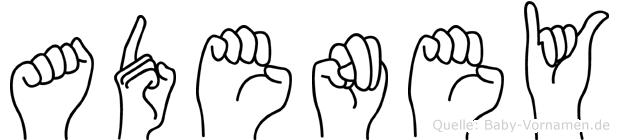 Adeney in Fingersprache für Gehörlose